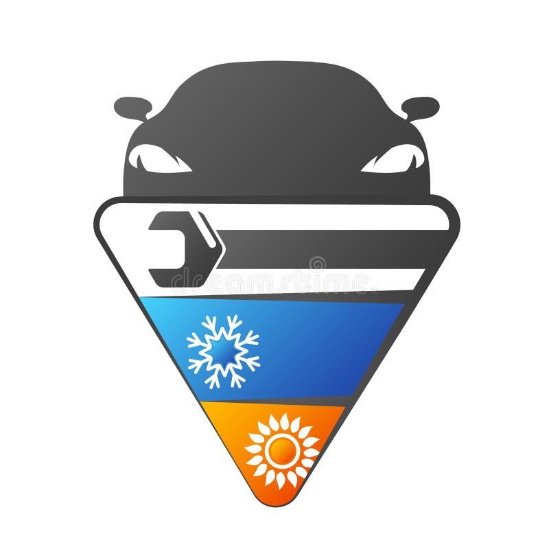 Reparação de automóveis do condicionamento de ar ilustração stock