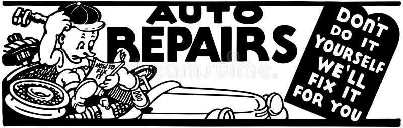 Reparações de automóveis ilustração do vetor