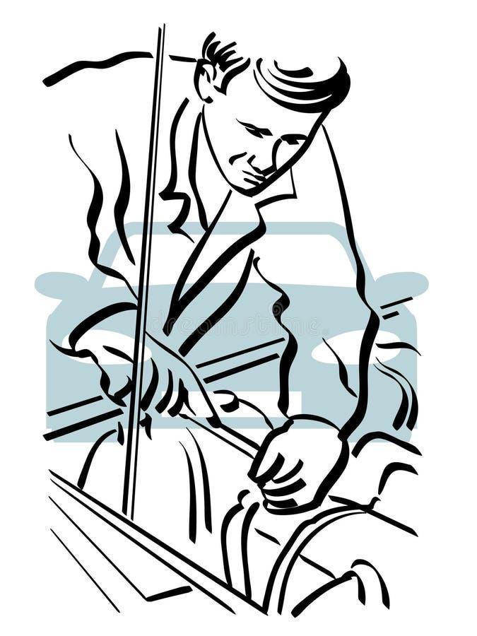 Reparación auto stock de ilustración