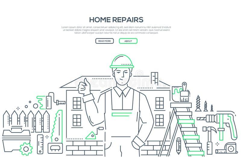 Reparación casera - línea ejemplo del estilo del diseño libre illustration
