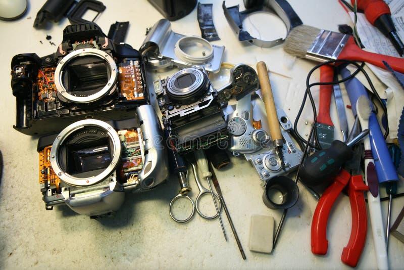 Reparación de la herramienta de la cámara foto de archivo libre de regalías