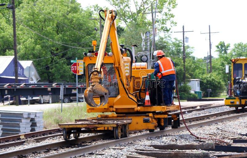 Reparación de la pista de ferrocarril foto de archivo