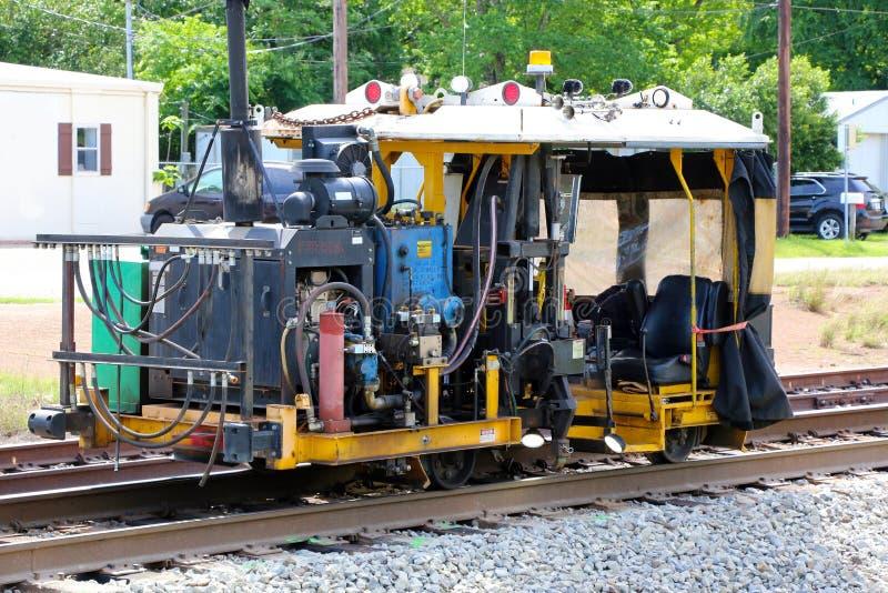 Reparación de la pista de ferrocarril imagen de archivo libre de regalías