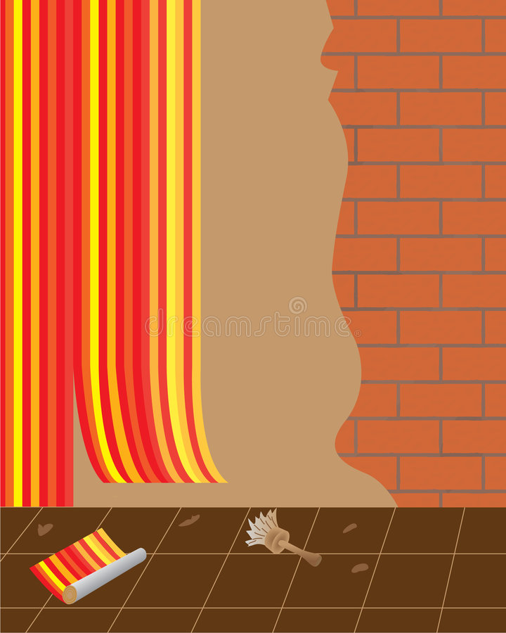Reparación de los apartamentos para las familias ilustración del vector