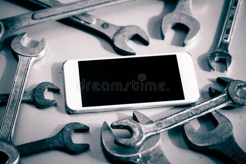 Reparación de Smartphone foto de archivo