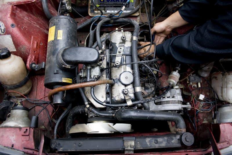 Reparación del coche imagen de archivo