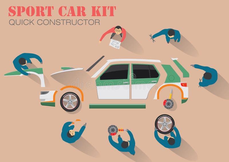 Reparación del coche ilustración del vector