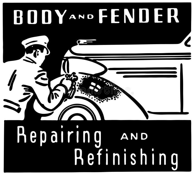 Reparación del cuerpo y de la defensa stock de ilustración