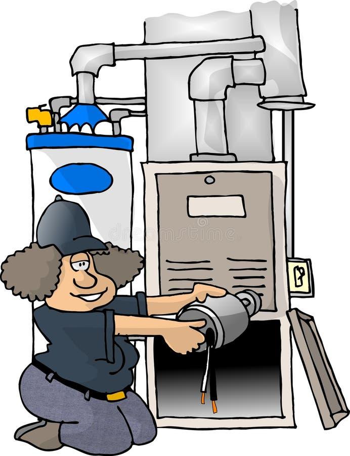 Reparación del horno ilustración del vector