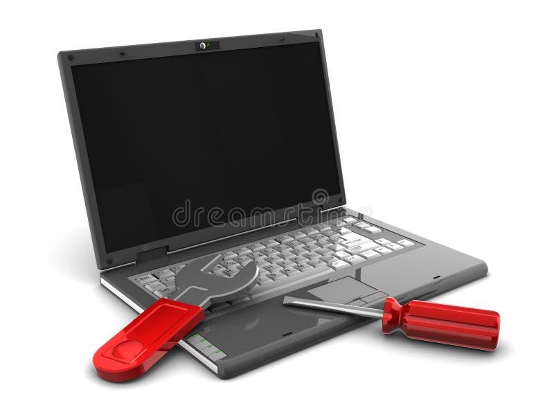 Reparación del ordenador stock de ilustración