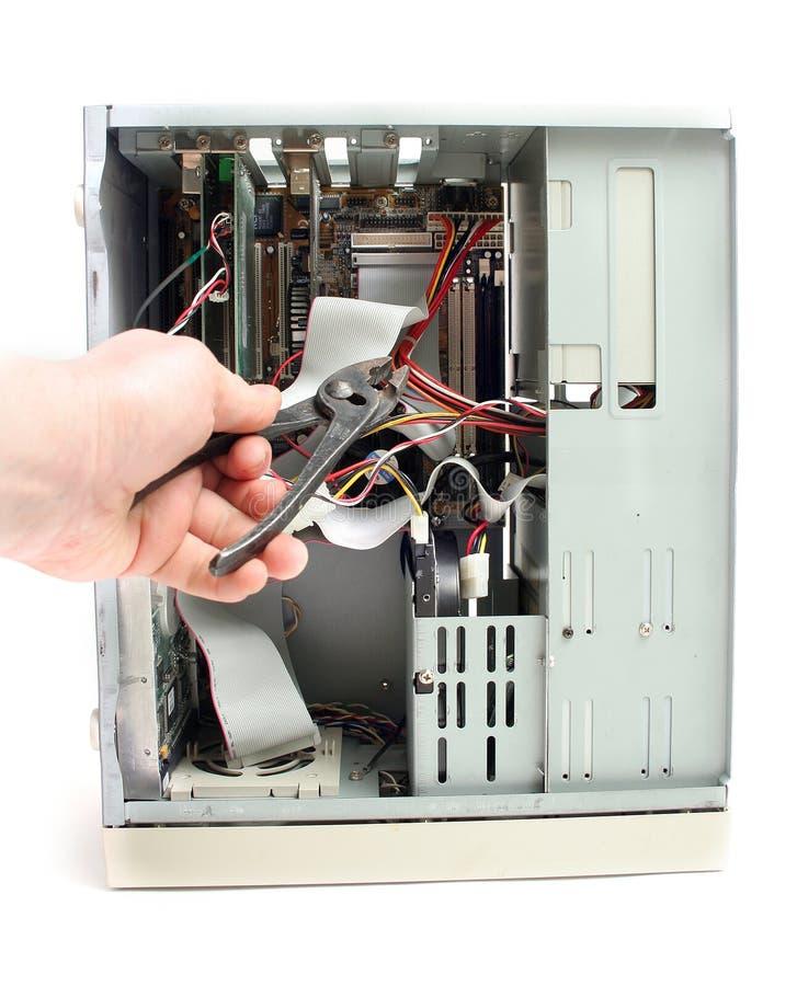 Reparación del ordenador foto de archivo libre de regalías
