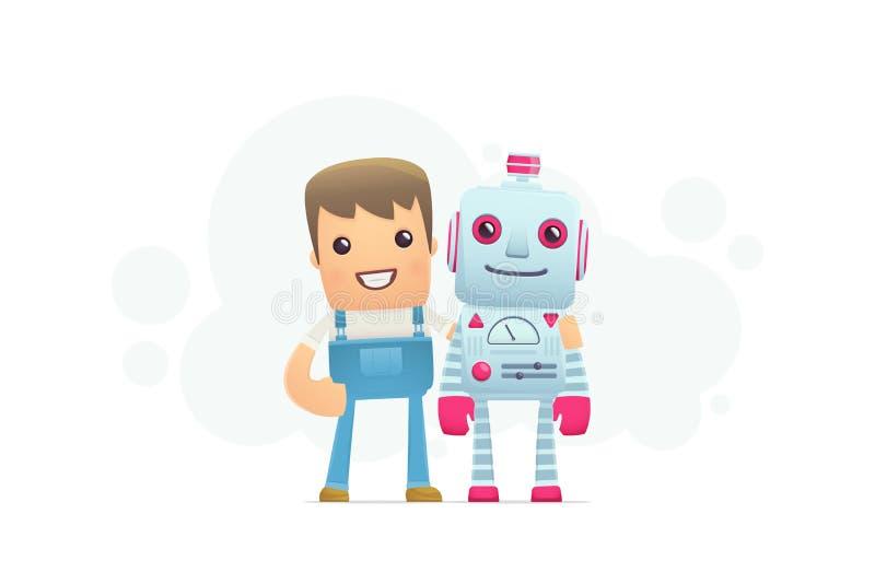 Reparación del robot ilustración del vector