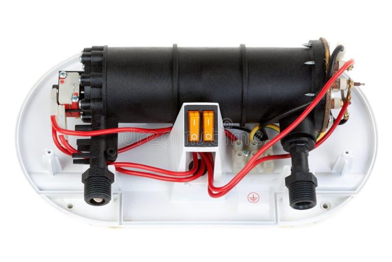 Reparación eléctrica del calentador de agua imagenes de archivo