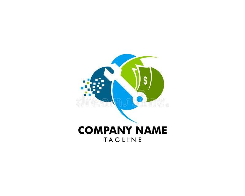 Reparación Logo Design Element de la nube libre illustration