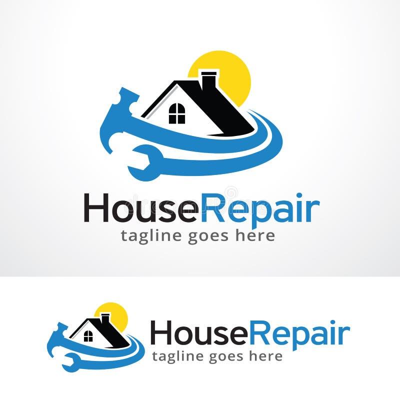 Reparación Logo Template Design Vector de la casa libre illustration
