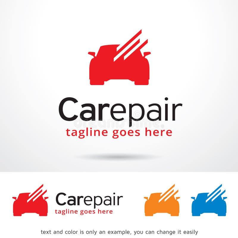 Reparación Logo Template Design Vector del coche stock de ilustración