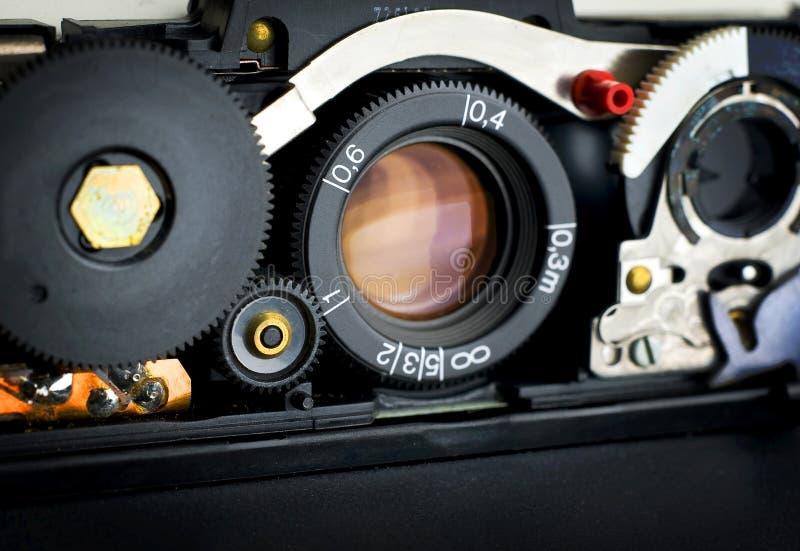 Reparación Polaroid SX-70 del camara del vintage fotografía de archivo