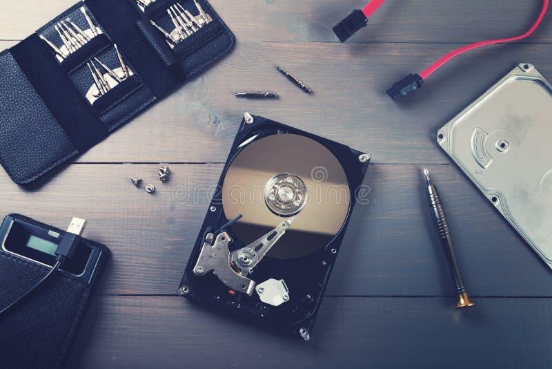 Reparación y servicio del hardware imagenes de archivo