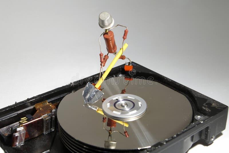 Reparatie HDD stock foto's