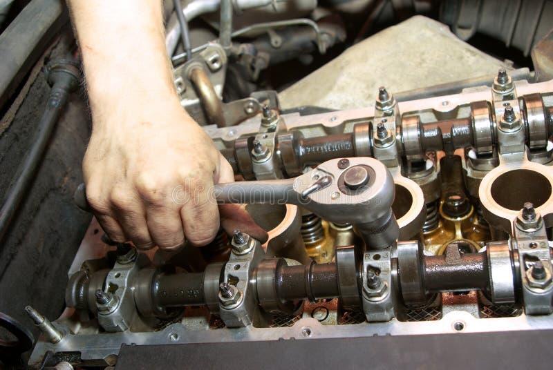 Reparatie van de motor royalty-vrije stock afbeelding