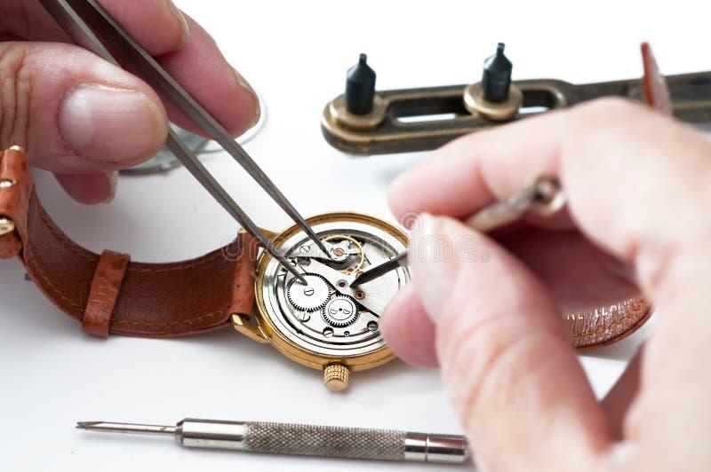 Reparatie van horloges royalty-vrije stock foto