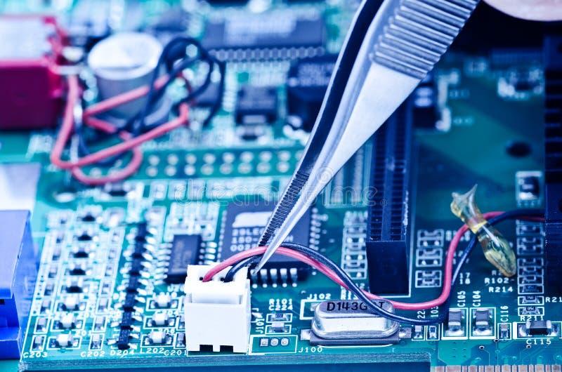 Reparatie videocard stock fotografie