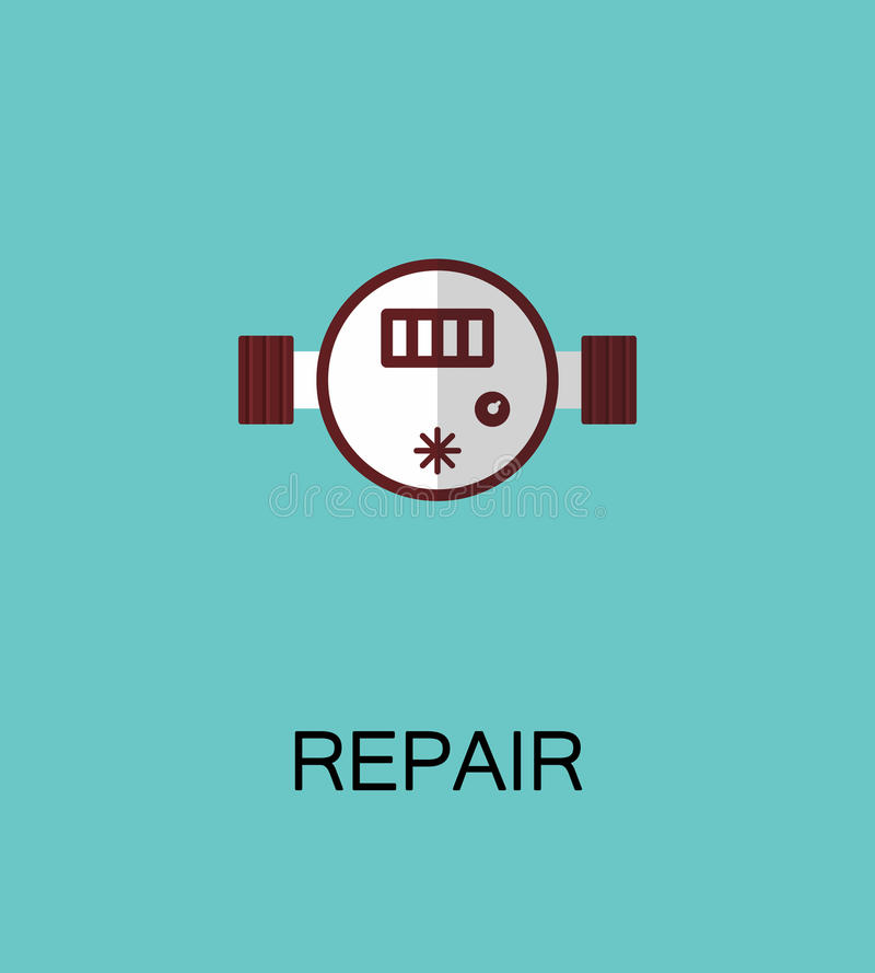 Reparatie vlak pictogram vector illustratie