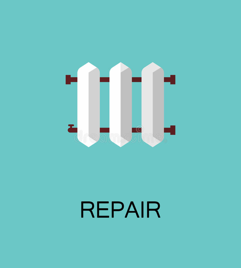 Reparatie vlak pictogram stock illustratie