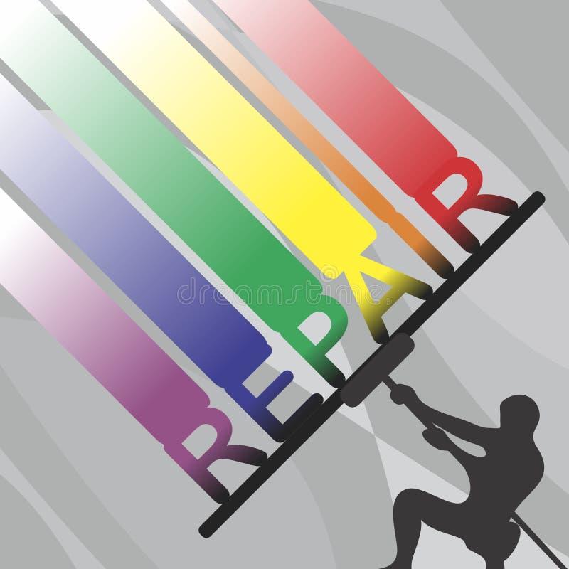 reparation stock illustrationer