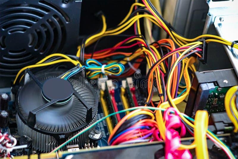 Reparation av persondatorn i servicemitten royaltyfria bilder