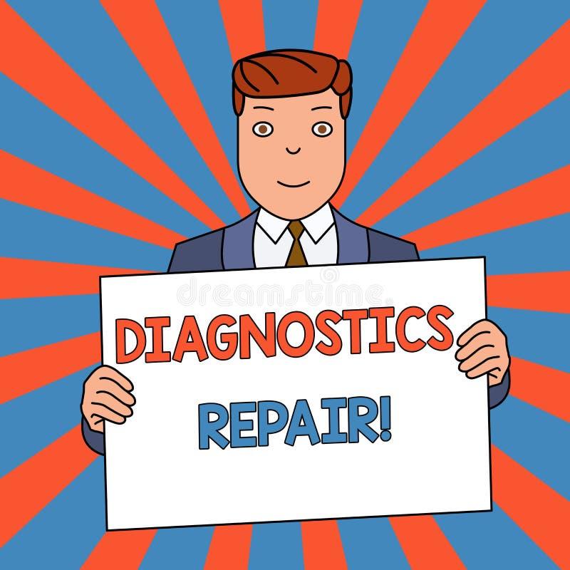 Reparation f?r diagnostik f?r ordhandstiltext Aff?rsid? f?r den a-programmet eller rutinen som hj?lper en anv?ndare att identifie vektor illustrationer