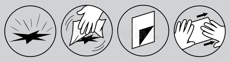 Reparation och lappa Anvisning f?r bruk royaltyfri illustrationer
