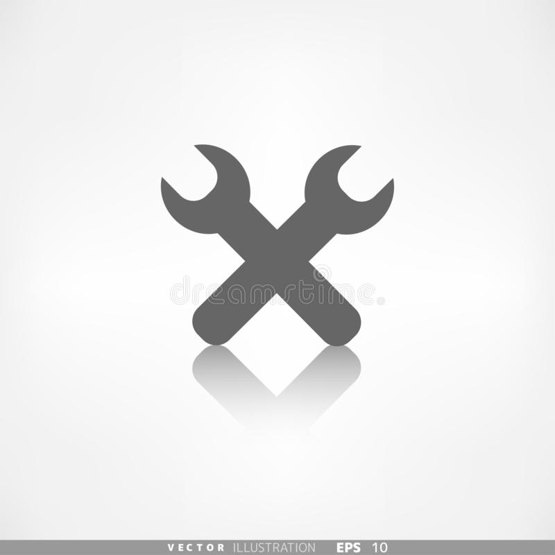 Reparationen bearbetar symbolen Teknologiskt instrument royaltyfri illustrationer