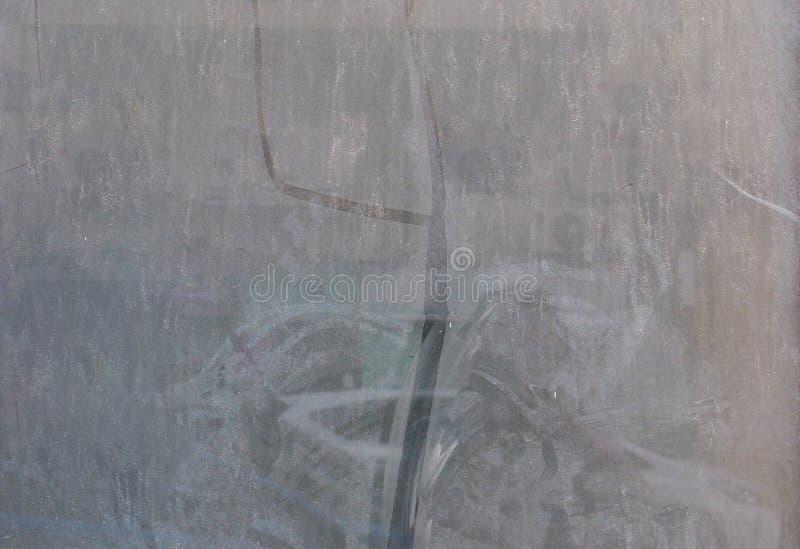 reparationer Dammig smutsig glass sammans?ttning som en bakgrundstextur arkivbilder