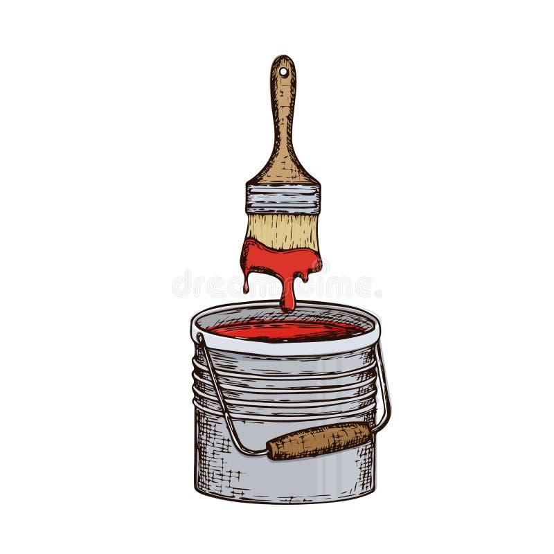 Reparationshjälpmedelillustration stock illustrationer