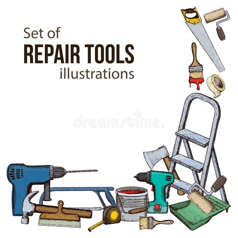 Reparationshjälpmedelillustration vektor illustrationer