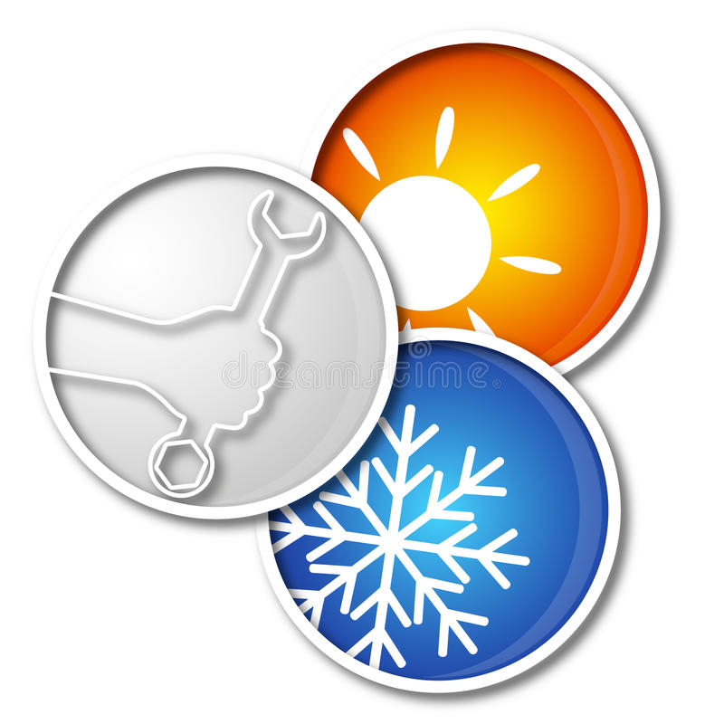 Reparationsluftkonditioneringsapparatsymbol royaltyfri illustrationer