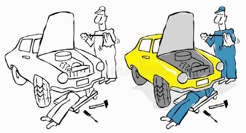 Reparationsservice vektor illustrationer