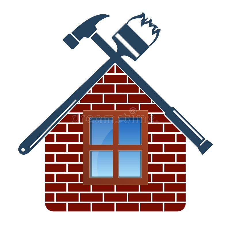 Reparatur und Wartung des Hauses lizenzfreie abbildung
