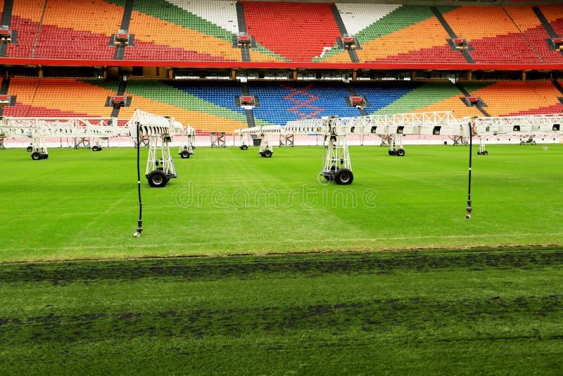 Repare campos de futebol imagens de stock royalty free