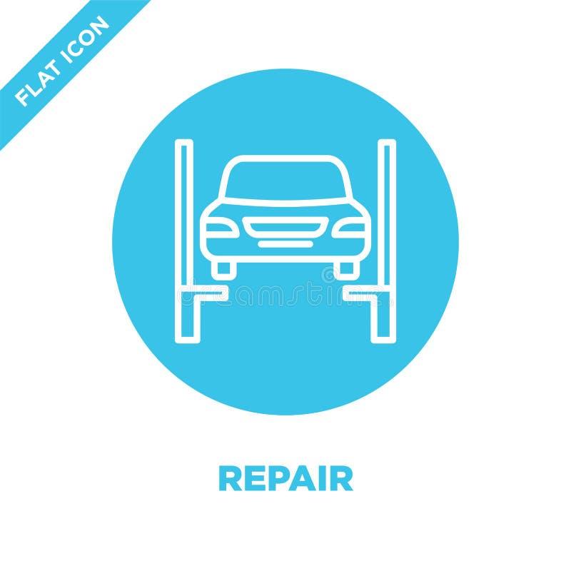 Repare el vector del icono Línea fina ejemplo del vector del icono del esquema de la reparación símbolo de la reparación para el  libre illustration