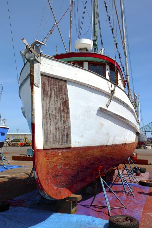 Repare a jarda para barcos, Astoria OU. fotos de stock