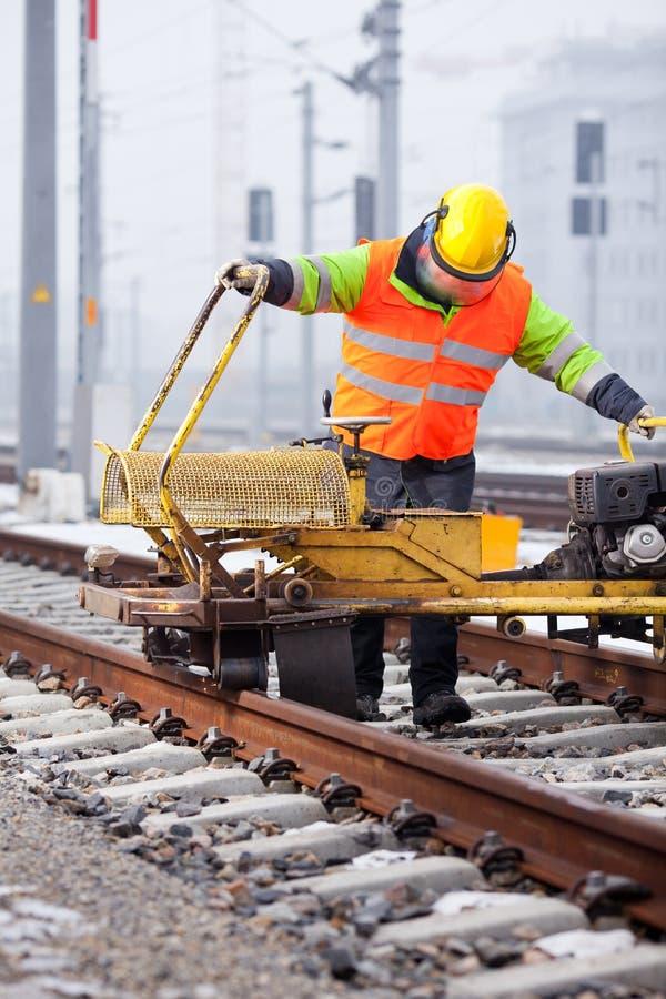 Repare o caminho de ferro imagem de stock