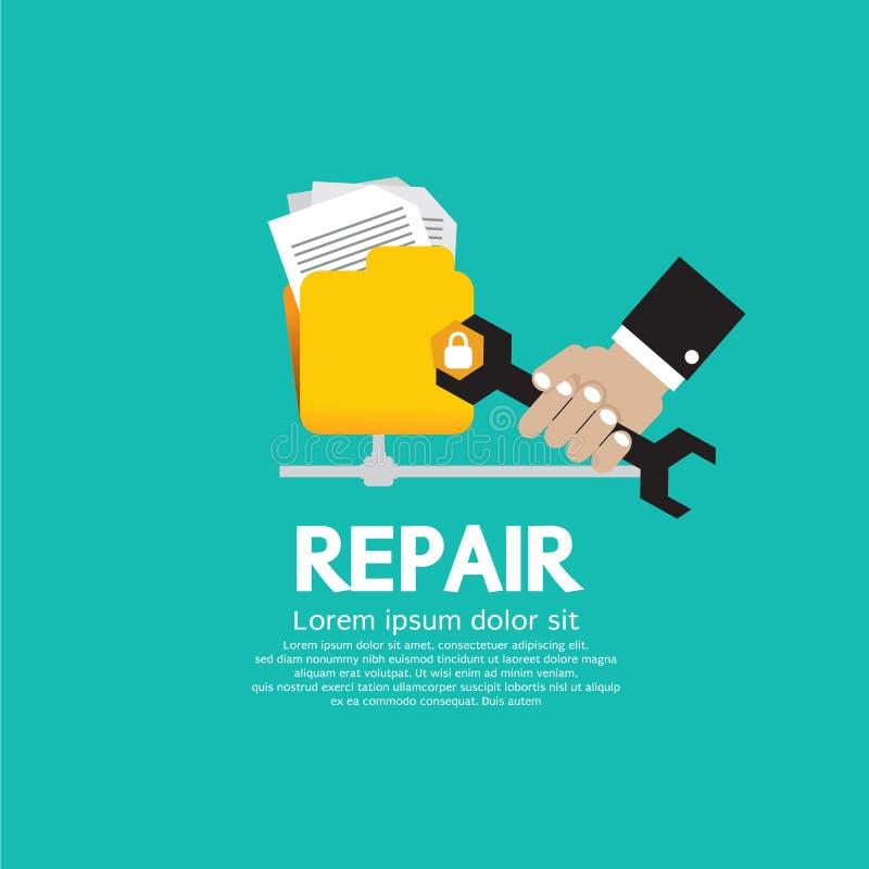 Repare o dobrador. ilustração royalty free
