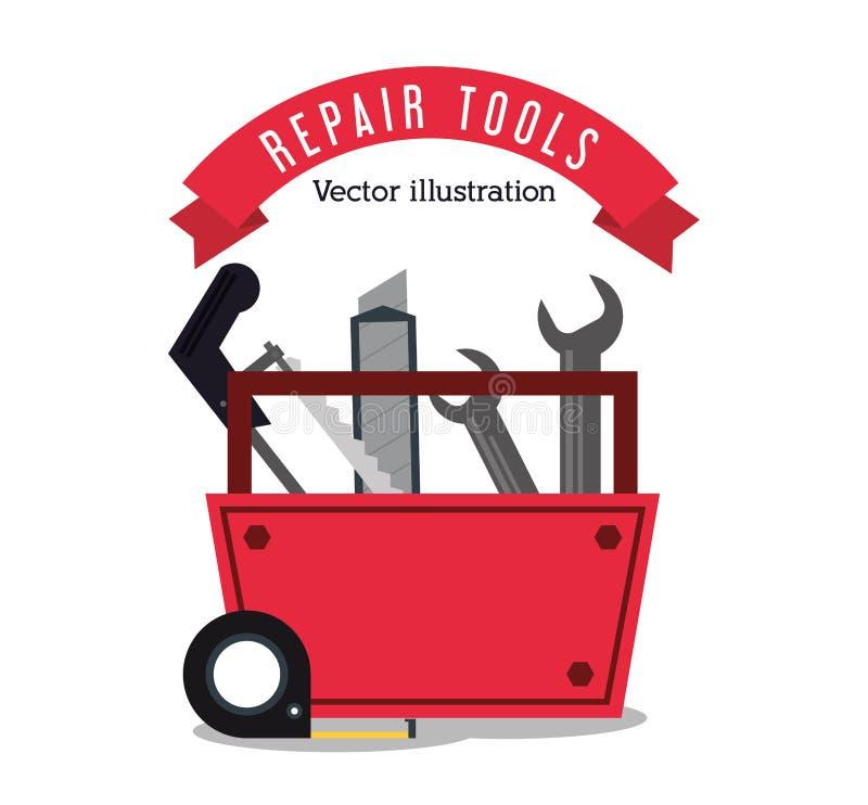 Repare o projeto da construção das ferramentas ilustração stock