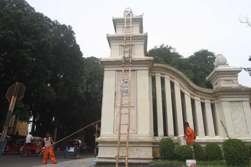 Reparera den historiska porten arkivfoton