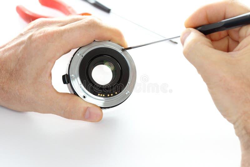 Reparera ett mål arkivfoton