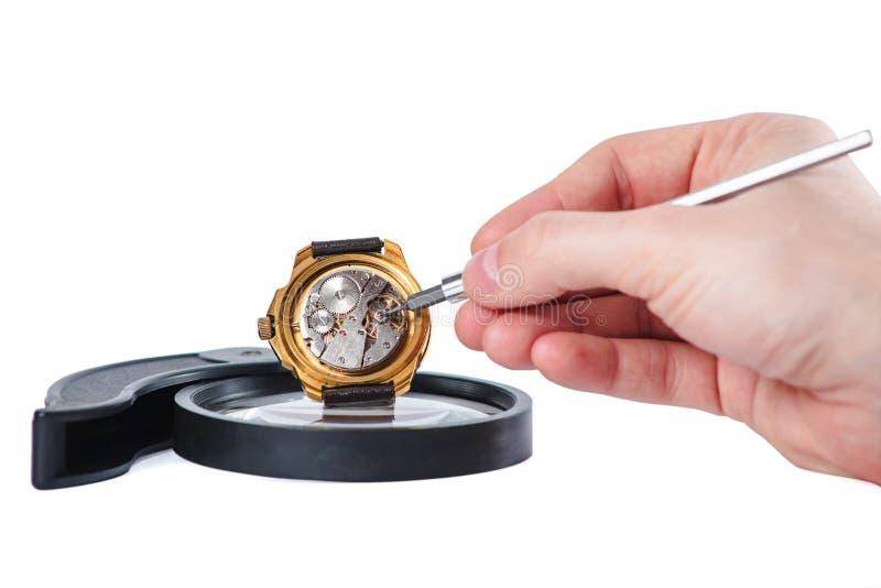 Reparera för klocka fotografering för bildbyråer