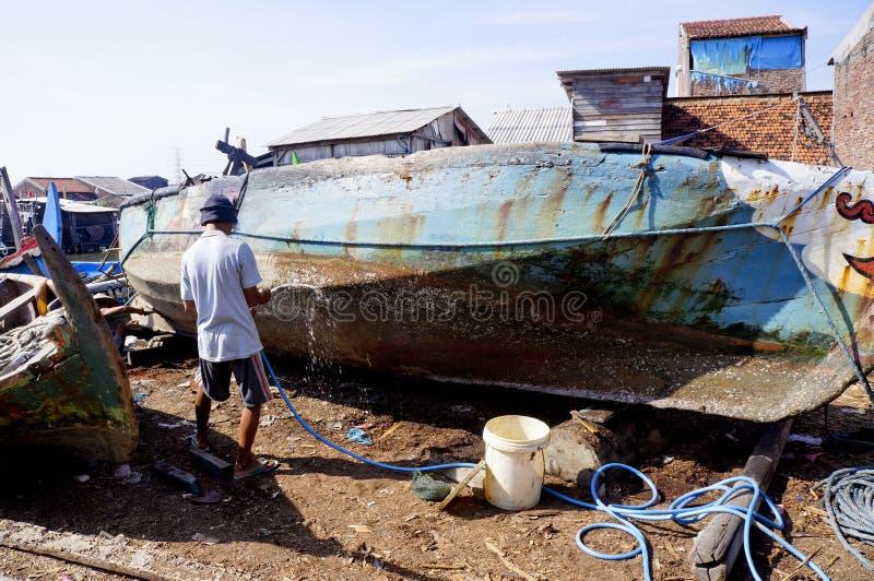 Reparera fartyget arkivbild