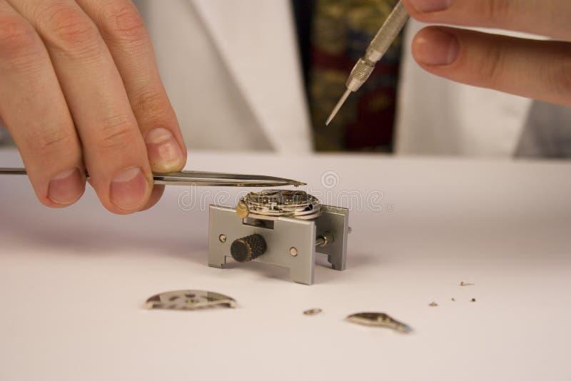 reparera watchen royaltyfri fotografi